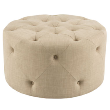 jcpenney.com | Madison Park Donald Round Tufted Ottoman