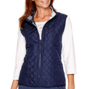 Alfred Dunner® Cape Hatteras Reversible Quilted Vest