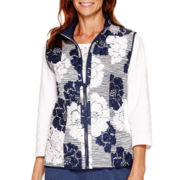 Alfred Dunner® Cape Hatteras Reversible Quilted Vest - Petite