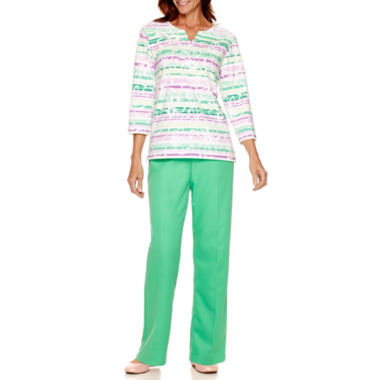 jcpenney.com | Alfred Dunner® Always In Style Ombré Top or Pull-On Pants
