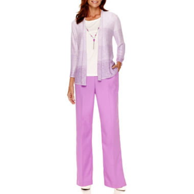 jcpenney.com | Alfred Dunner® Always In Style Textured Layered Top or Pull-On Pants