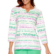 Alfred Dunner® Always In Style 3/4-Sleeve Ombré Print Top