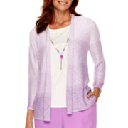 Alfred Dunner® Always In Style 3/4-Sleeve Textured Layered Top