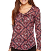 i jeans by Buffalo Long-Sleeve Print Top