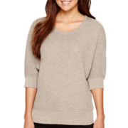 Alyx® Elbow-Sleeve Textured Dolman Sweater