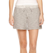 Liz Claiborne® Weekend Slub Drawstring Shorts