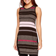 I 'Heart' Ronson® Sleeveless Striped Asymmetric Top
