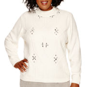 Alfred Dunner® Alpine Lodge Long-Sleeve Chenille Sweater