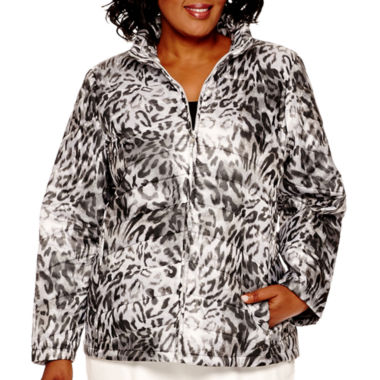 jcpenney.com | Alfred Dunner® Alpine Lodge Long-Sleeve Print Quilted Jacket - Plus