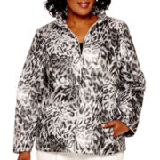 Alfred Dunner® Alpine Lodge Long-Sleeve Print Quilted Jacket