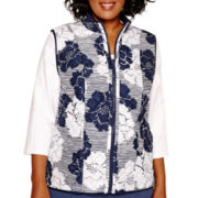 Alfred Dunner® Cape Hatteras Reversible Quilted Vest - Plus