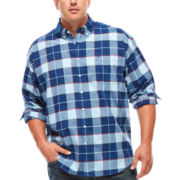 Dockers® Long-Sleeve Plaid Oxford Shirt