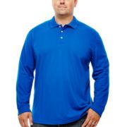 The Foundry Supply Co.™ Long-Sleeve Piqué Polo - Big & Tall