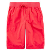 Arizona Poplin Pull-On Chino Shorts - Boys 8-20 and Husky