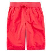 Arizona Poplin Pull-On Chino Shorts - Boys 8-20 and Husky