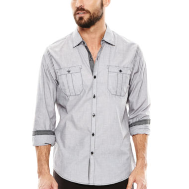 jcpenney.com | Michael Brandon® End-on-End Woven Shirt