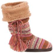 MUK LUKS® Helga Swiss Fair Isle Boot Slippers