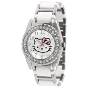 Hello Kitty® Rhinestone & Fashion-Link Bracelet Watch