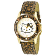 Hello Kitty® Animal-Print Strap Watch