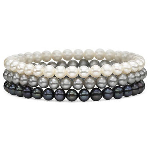 Cultured Freshwater Pearl 3-pc. Stretch Bracelet