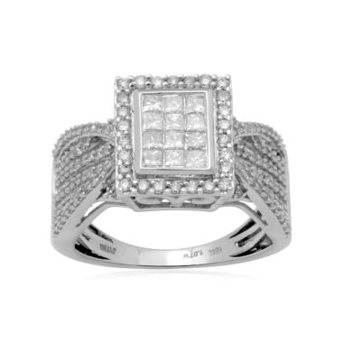 jcpenney.com | 1 CT. T.W. Diamond Bridal Ring 10K White Gold