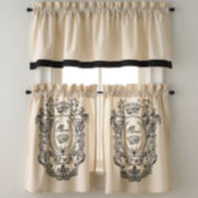 Park B. Smith Paris Postage Rod-Pocket Kitchen Curtains