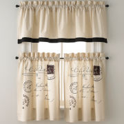Park B. Smith Postale Rod-Pocket Kitchen Curtains