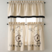 Park B. Smith World Rod-Pocket Kitchen Curtains