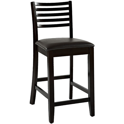 Triena Ladder Barstool with Back