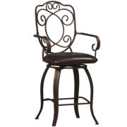 Crested-Back Barstool