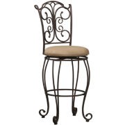 Metal Gathered-Back Barstool