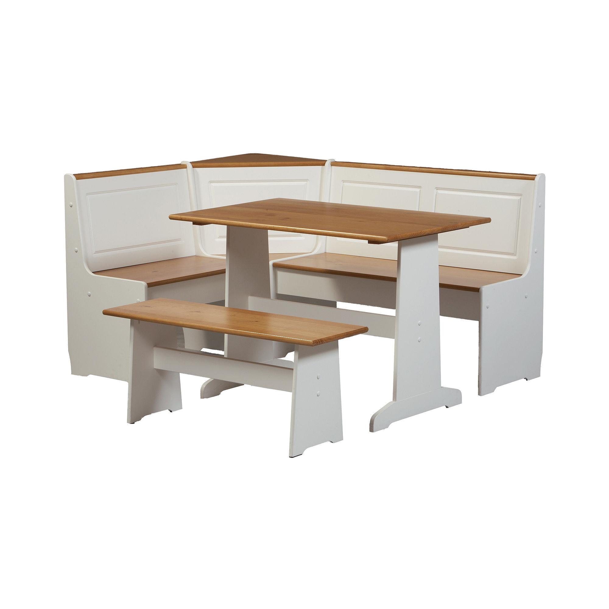 linon chelsea breakfast corner nook table walmart com