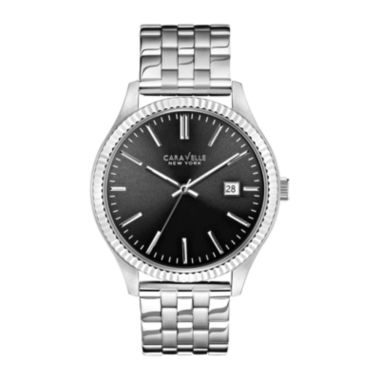 jcpenney.com | Caravelle New York® Mens Gray Round Dial Silver-Tone Dress Watch 43B131