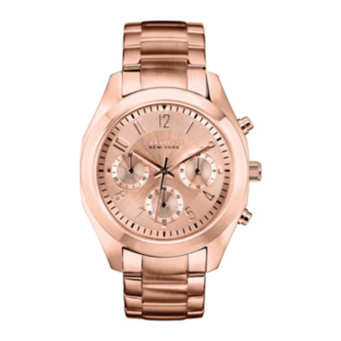 jcpenney.com | Caravelle New York® Womens Rose-Tone Dial Rose-Tone Chronograph Watch 44L115