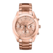 Caravelle New York® Womens Rose-Tone Dial & Rose-Tone Bracelet Chronograph Watch