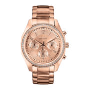 Caravelle New York® Womens Rose-Tone Bracelet Chronograph Watch