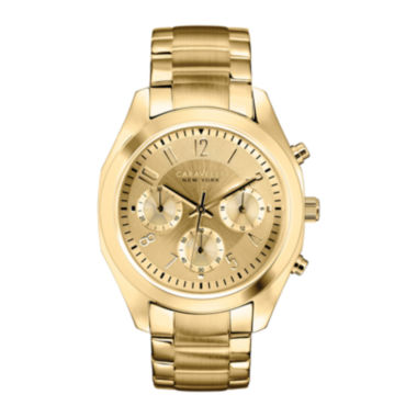 jcpenney.com | Caravelle New York® Womens Gold-Tone Dial Bracelet Chronograph Watch 44L118