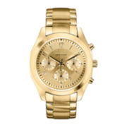Caravelle New York® Womens Gold-Tone Dial & Gold-Tone Bracelet Chronograph Watch