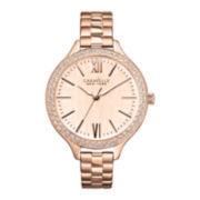 Caravelle New York® Womens Rose-Tone Dial & Bracelet Watch
