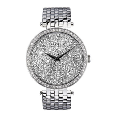 jcpenney.com | Caravelle New York® Womens White Round Dial & Silver-Tone Bracelet Watch 43L160