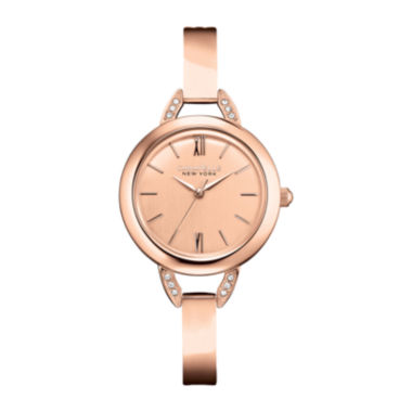 jcpenney.com | Caravelle New York® Womens Rose-Tone Bangle Watch