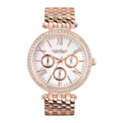 Caravelle New York® Womens Mother-of-Pearl with Rose-Tone Bracelet Watch