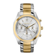 Caravelle New York® Womens Two-Tone Chronograph Watch