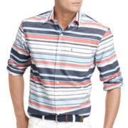 IZOD® Striped Button-Front Shirt