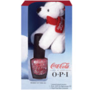 OPI Nail Polish & Coca Cola Bear Gift Set