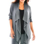 Ambrielle® Long-Sleeve Sleep Flyaway Sweater - Plus