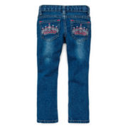 Arizona Crown Pocket Skinny Jeans - Girls 2t-6