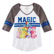 My Little Pony 3/4-Sleeves Raglan Top - Girls 7-16