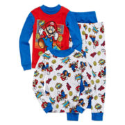 Super Mario 4-pc. Long-Sleeve Mix-and-Match Pajama Set – Boys 4-10