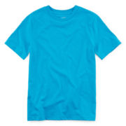 Arizona Short-Sleeve Solid Crewneck Tee – Boys 8-20 and Husky